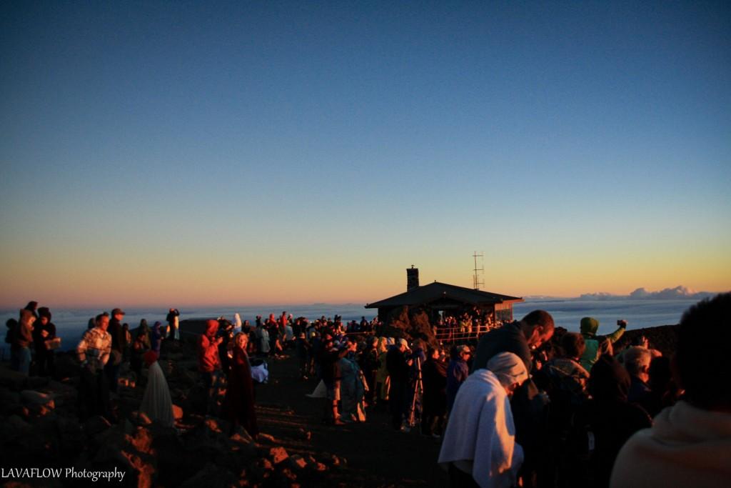 Sonnenanbeter auf dem Haleakala