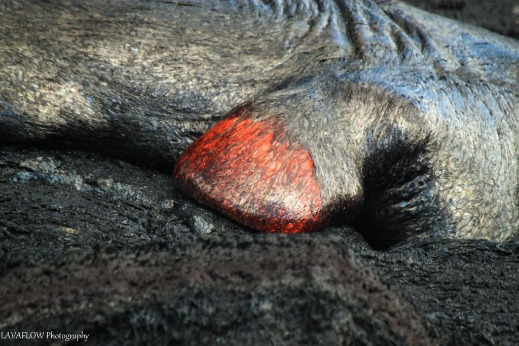Pahoehoe Lava am PuuOo-Krater
