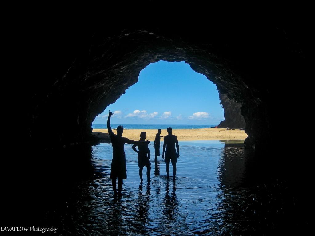 Höhle am Kalalau Beach