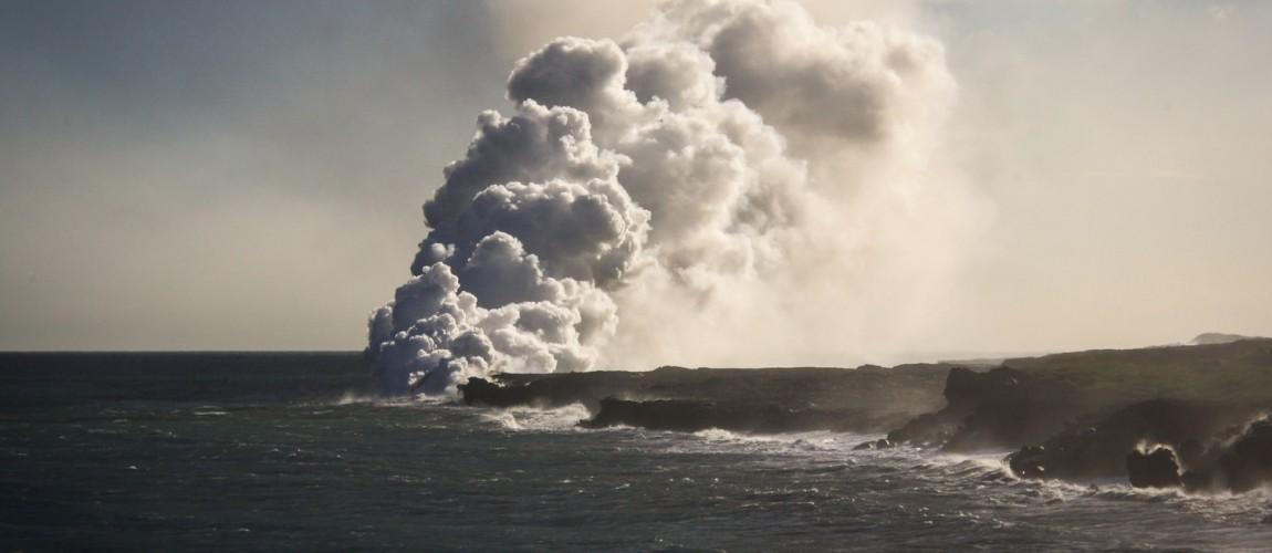 Flüssige Lava in Kalapana…