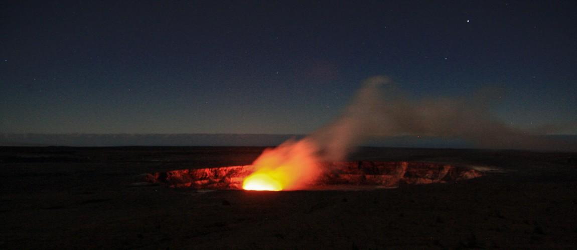 Sternschnuppen am Halemaumau-Krater