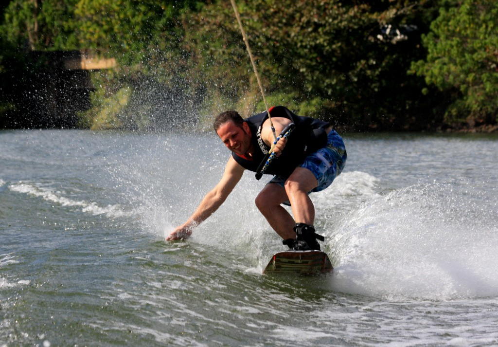 Wakeboarding auf dem Wailua River