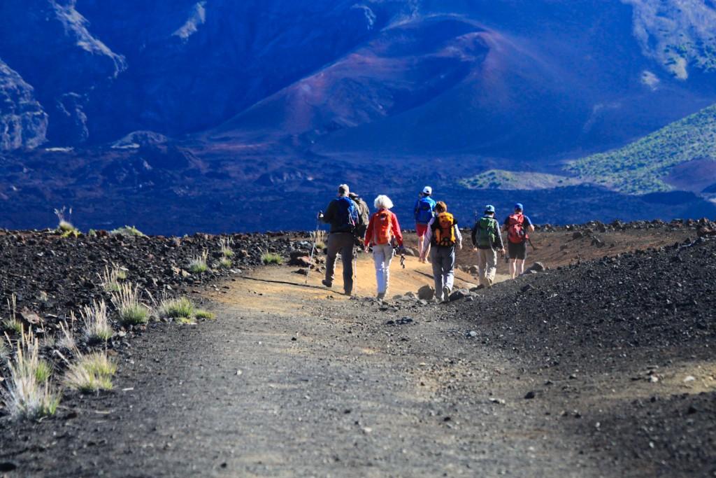 Wanderer auf dem Sliding Sands Trail