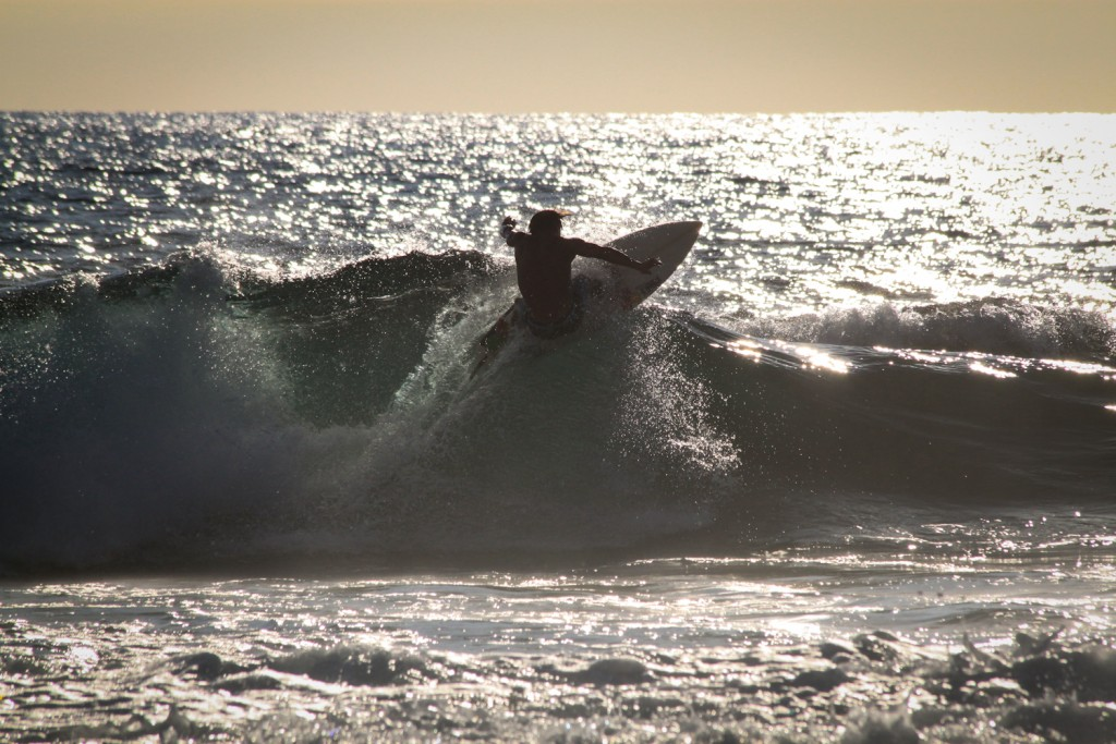 Surfer in Kona, Big Island