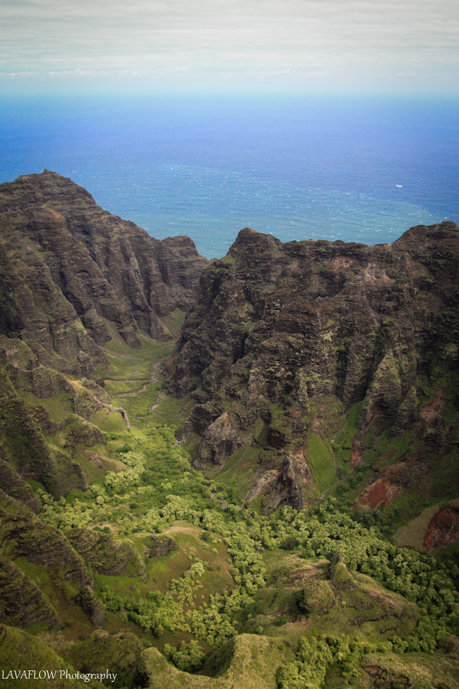 Tal an der Na Pali Coast