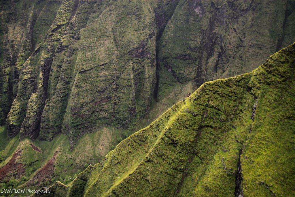Grüne Klippen an der Na Pali Coast