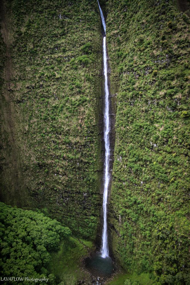 Wasserfall im Waialeale Krater